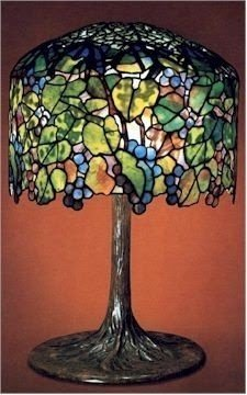 Tiffany grape table lamp circa 1900