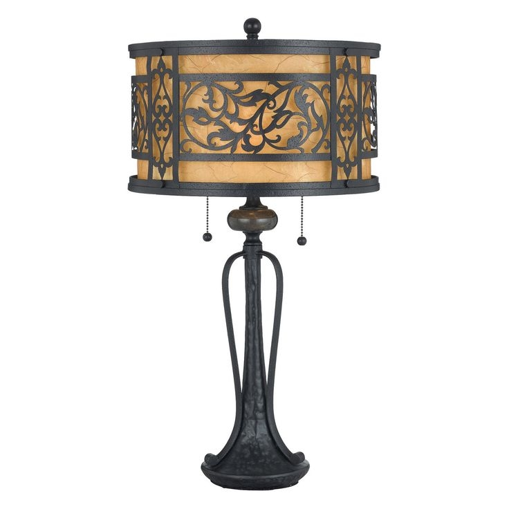Tuscan Lighting Mystic Black Wrought Iron Table Lamp 1