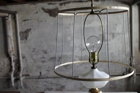 Drum lamp shade frame foter vintage metal wire lampshade frame greentooth Choice Image