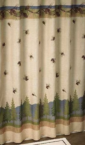 Pinecone Shower Curtain Foter