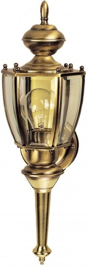 Ab solid brass motion activated 6 sided coach light antique