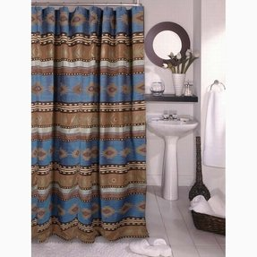 Aztec print shower curtain