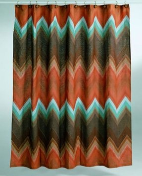 Aztec shower curtain