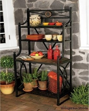 Bakers wine rack wrought iron