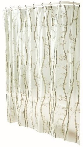 Bamboo Print Shower Curtain - Foter