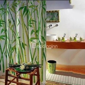 Bamboo shower curtain 1