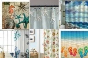 Beach Theme Shower Curtains