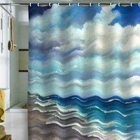 Beach Themed Shower Curtain