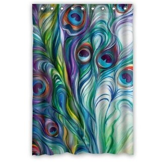 Beautiful Peacock Shower Curtain - Hotstyle Peacock Feather Bathroom Shower Curtains Polyester Waterproof 48 Wide x 72 High