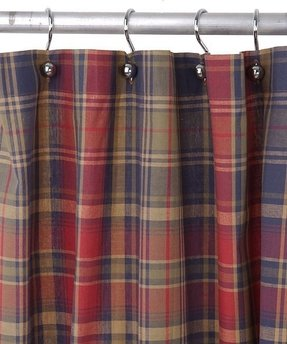 Birmingham navy plaid shower curtain