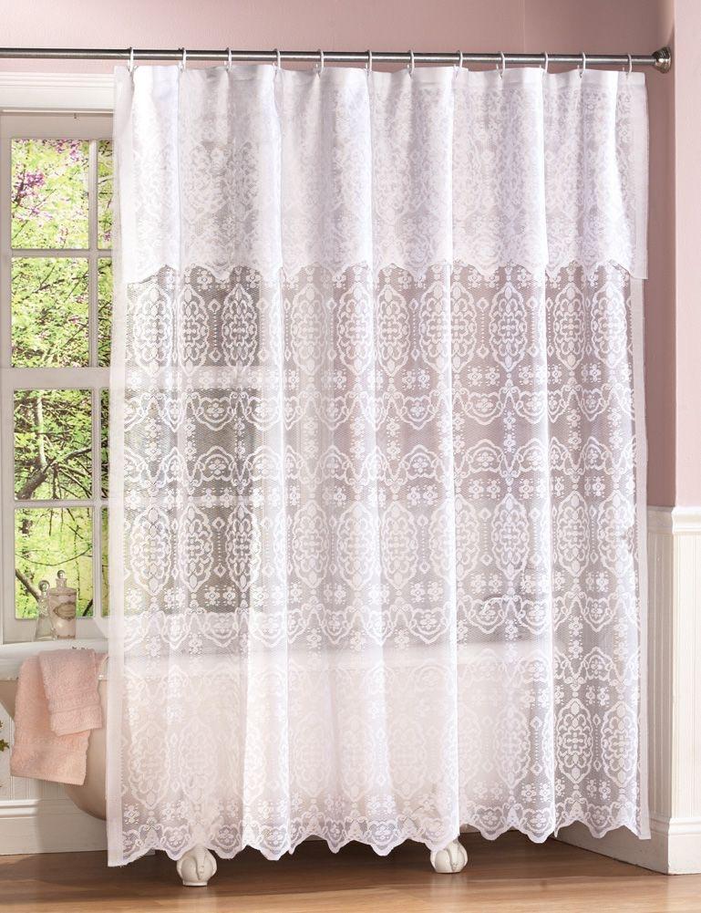 Black Lace Shower Curtain