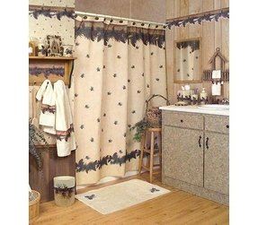 Blonder home pinecone lodge shower curtain