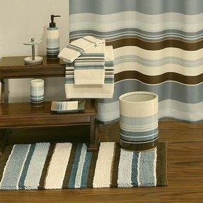 Blue Brown Shower Curtain Foter