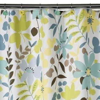Blue brown shower curtain 6