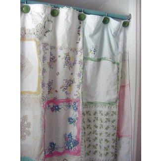 Burlap Shower Curtain 1