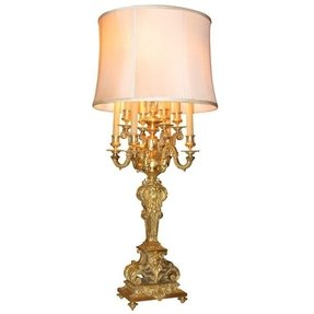 Candelabra style table lamp 34