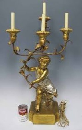 Candelabra style table lamp 4