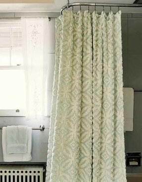 Chenille shower curtain 1