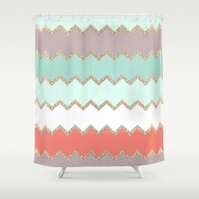 grey and coral shower curtain. Coral and gray shower curtain Shower Curtain  Foter