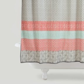 Turquoise And Coral Shower Curtain. Coral shower curtain 2 Shower Curtain  Foter