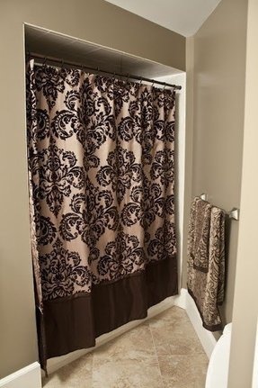 black and brown shower curtain. Damask Shower Curtain 1 Shower Curtain  Foter