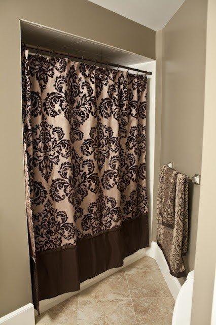 Genial Damask Shower Curtain