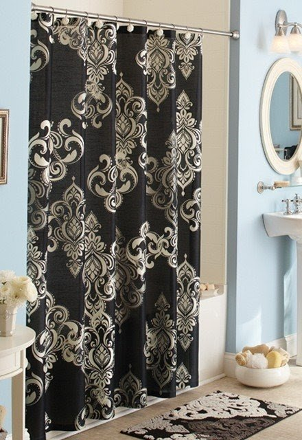 Damask Shower Curtain 14