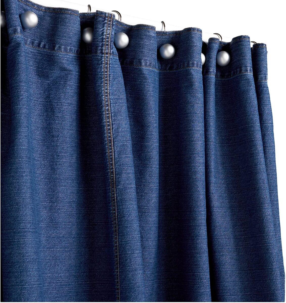 High Quality Denim Shower Curtain