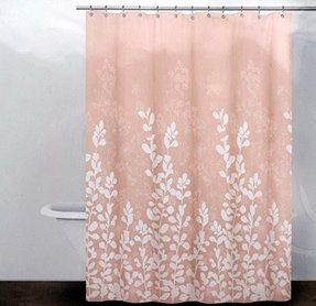pale pink shower curtain. Dkny Fabric Shower Curtain Enchanted Forest Blush Dkny Shower Curtain  Foter