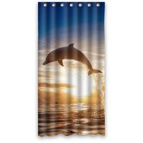 Dolphin Fabric Shower Curtain Foter