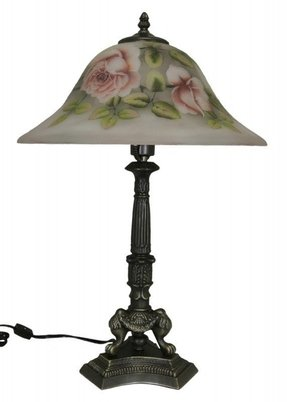 "Dreamy Rose 16"" H Table Lamp with Bell Shade"