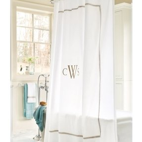 Embroidered shower curtain 11
