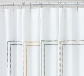 Embroidered shower curtain 6