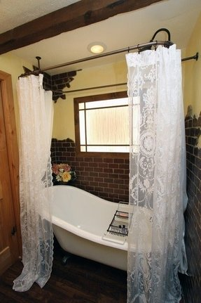 Lace Shower Curtain Ideas On Foter