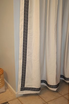 Greek key shower curtain 11