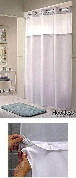 Hookless Fabric Shower Curtain - Foter