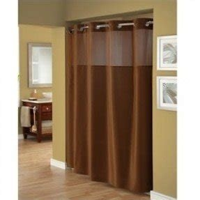 Hookless Fabric Shower Curtain With Window