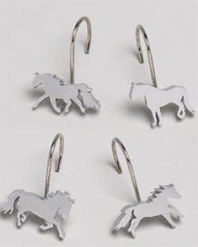 Superbe Horse Shower Curtain Hooks