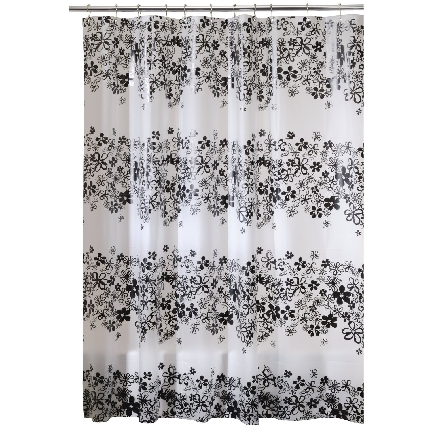 Awesome Interdesign Fiore Eva Stall Size Shower Curtain Black 54 Inches