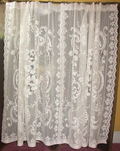 Elegant Lace Shower Curtain 25