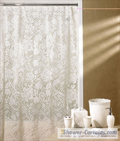 Delightful Lace Shower Curtain