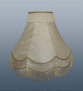Lamp shades table lamp shades double scallop cream ivory shade