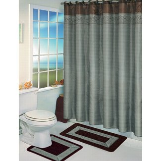 Light Blue Shower Curtain