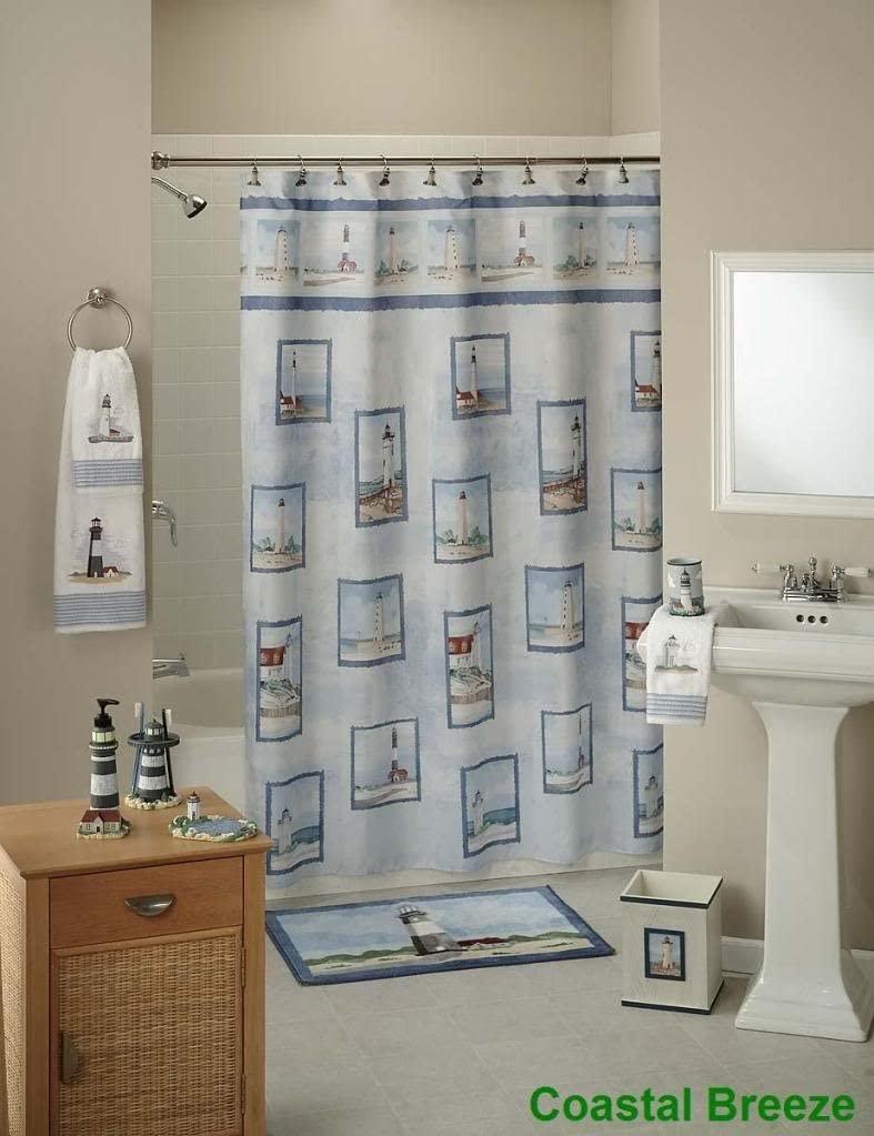 Beau Lighthouse Shower Curtain 24