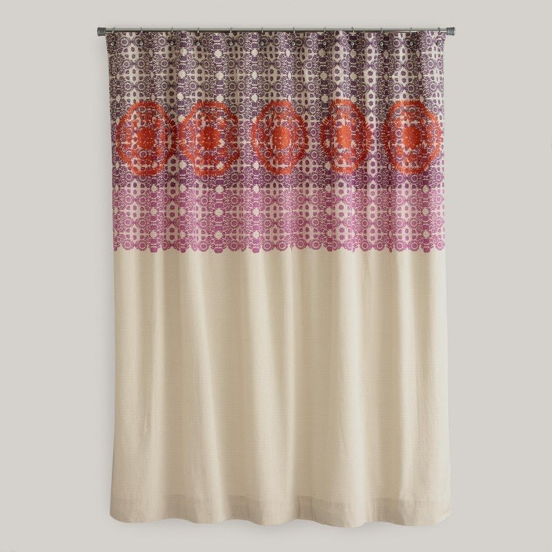 Monogrammed Shower Curtain Pottery Barn