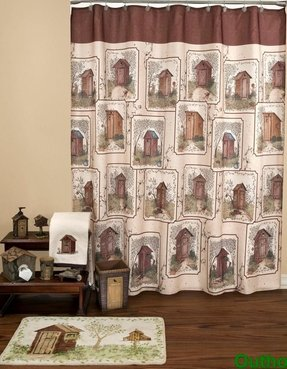 Best Outhouses Shower Curtain