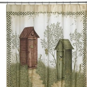 Outhouses Shower Curtain With Fond Memories Of Camping In Baldwin Woods