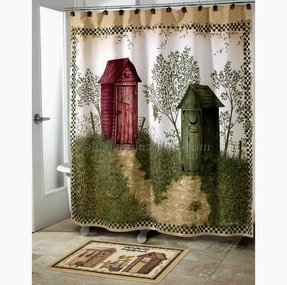 Outhouses shower curtain 2