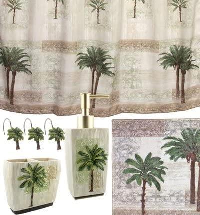Merveilleux Palm Kitchen Decor Palm Tree Bath Set Tropical Decor Shower