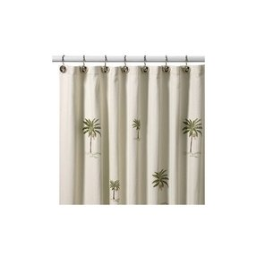 Palm tropical shower curtain 2